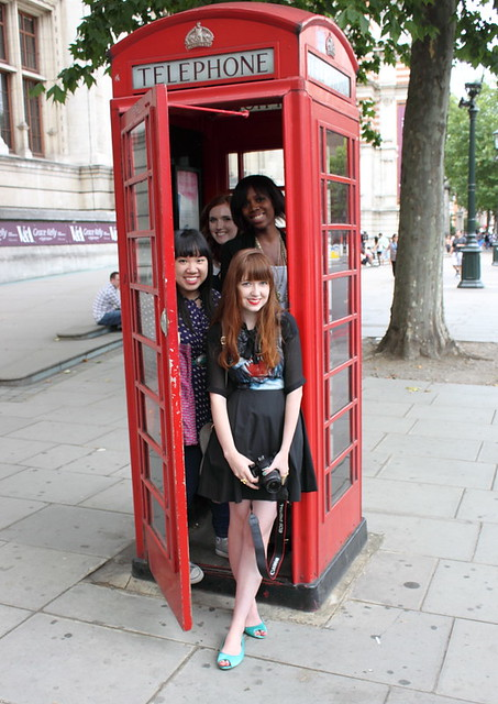 Telephone booth bloggers (Credit- Nice and Shiny)