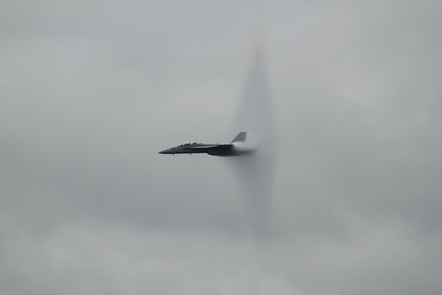 F-18A with a Prandtl-Glauert Singularity