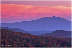 Blue Ridge Twilight (Kevin B Photo) Tags: autumn trees usa cloud mountains color tree film nature beautiful beauty horizontal clouds america forest landscape photography nc twilight colorful day afternoon exterior unitedstates natural native south magenta northcarolina southern daytime blueridgeparkway layeredmountains kevinbarry wowiekazowie colourlicious