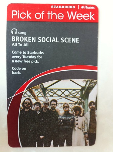 Starbucks iTunes Pick of the Week - Broken Social Scene - All To All