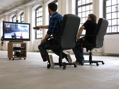 Nilzenburger und Herm mit PlayStation Move