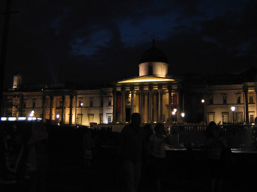 National Gallery at night