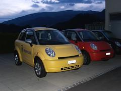 Guessed: Think City EV (Martin van Duijn) Tags: alps car electric switzerland automobile suisse think ev bern alpen region jungfrau berneroberland wilderswil scheiz