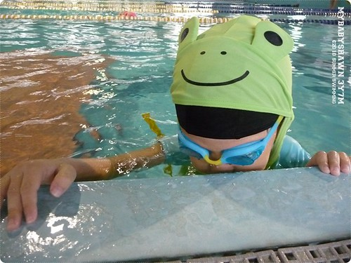 0729游泳紀錄 吐泡泡練習
