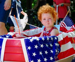 red haired patriot (dcisme) Tags: maryland fourthofjuly garrettpark