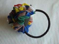 pony hair band flower5 (pitufimin) Tags: flower ponytail hairaccessory handmadekawaii