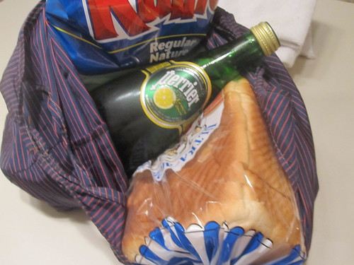 Chips, bread, Perrier from the dep - $5.45