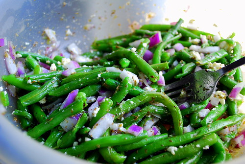 Green Bean Salad with Feta Vinaigrette