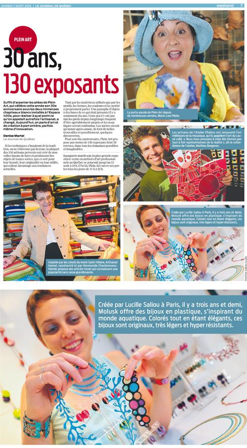 Journal de Québec - 7 août 2010