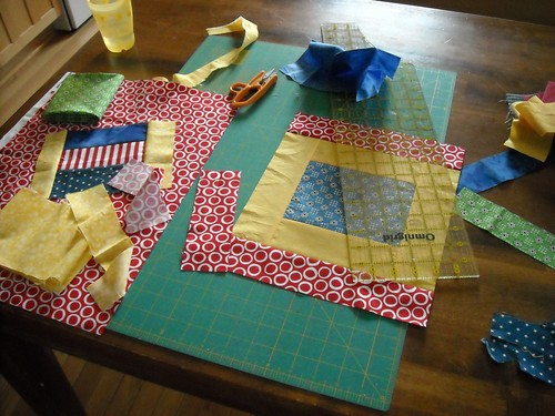 last 2 charity quilt blocks... in process