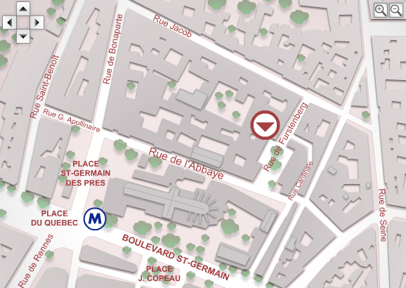 Mapa Museu Delacroix