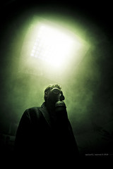 My Last Breath (Midnight - digital) Tags: light cinema strange dark darkness sinister smoke fear apocalypse dramatic evil atmosphere eerie creepy spooky horror gasmask cinematic drama dystopia dystopian