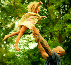 higher, higher! [explored!] (lindsmae) Tags: park summer sky love festival gardens square jumping dad dress capecod massachusetts daughter sandwich tattoos explore ten trust strong strength freedomfest explored daddyandhisdaughter