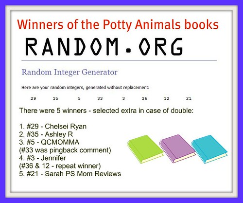 Potty Animals Winners