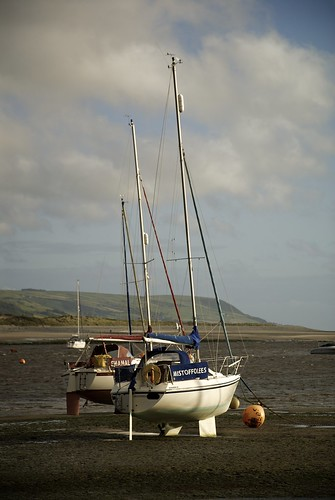 Boats Beached In The Mawddach