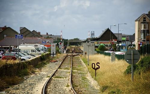 Looking Along The Tracks At Barmouth