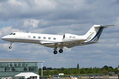 HB-JUS GULFSTREAM G450 4123 CORPORATE  - 100724 - Farnborough - Alan Gray - IMG_9294