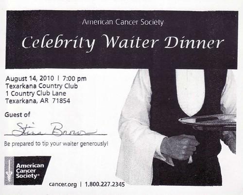 Celebrity Waiter Dinner