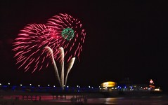 Bournemouth Pier - Fireworks (Peter J Dean) Tags: sea summer holiday beach night pier fireworks dorset bournemouth canonef1635mmf28liiusm ef1635mmf28liiusm canon7d