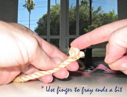 Rope Napkin Rings DIY-Beach Table Decor -2