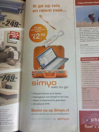 Simyo Web to go advertentie - ANWB Kampioen