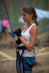 Jutta (Timo Vehviläinen) Tags: portrait suomi finland scout rope climbing evo scouting leiri belaying kiipeily partio kilke finnjamboree