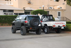 fj and 76 (shine_on) Tags: inch lift desert mud offroad 4x4 dunes 4 toyota jeddah suv fj landcruiser saudiarabia cruiser rains     bahra    feshfesh  70series