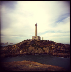The Lighthouse (Alberto Sen (www.albertosen.es)) Tags: espaa 6x6 film coast holga lomo lomography spain east alberto medium format pelicula medio sen formato lomografia albertorg