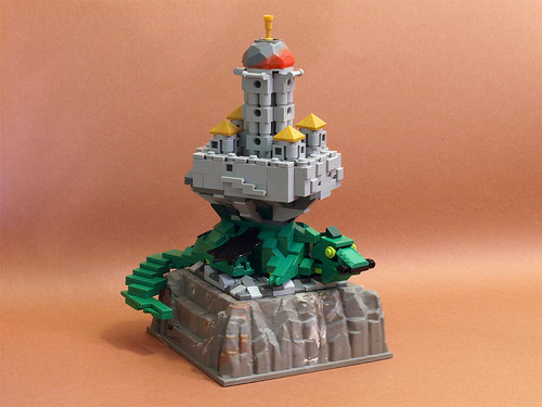 Lego Castle Dragon Golden Towers