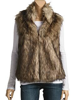 Michael Michael Kors Faux Fur Coyote Vest