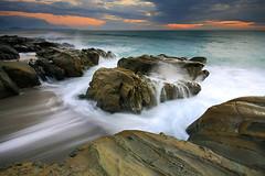 (nodie26) Tags: ocean sea color rock sunrise long tour slow taiwan flowing oceans  hualien           naturesfinest   eow        aplusphoto
