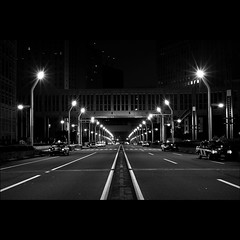 AM3:00. Tokyo Metropolitan Government (Noisy Paradise) Tags: road street city longexposure urban bw monochrome japan night tokyo shinjuku sigma explore   foveon tokyometropolitangovernment   dp2  sigmadp2 noisyparadise