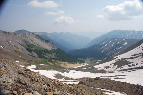 View down Inter Fork valley, Mount Rainier National Park, WA