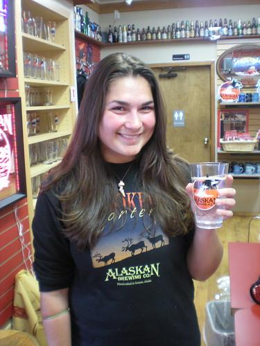 Annie at Alaska Brewing Co.