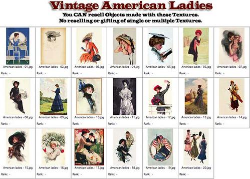 Shabby Chic Vintage American Ladies