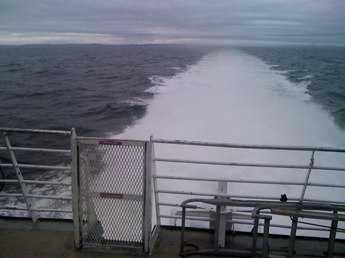 Exiting the Puget Sound for Victoria, BC on the Victoria Clipper