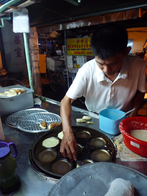 Mini-pancake food cart, Penang, Malaysia