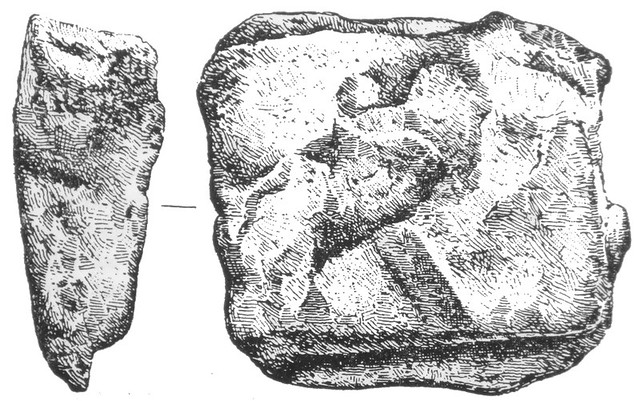 000-01 Aes Rude with a stamp or brand, possibly from the Grammechele (Catania) hoard unearthed in 1900, and dating to about 600BC