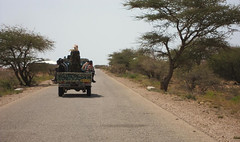 11b. Our militaryescort through the buffer zone between Somaliland and Puntland