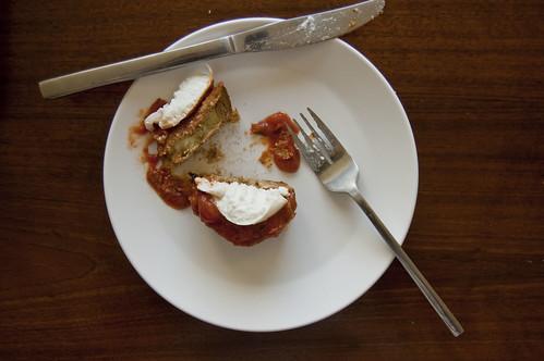 eggplant, eaten