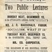 Advertisement for public lectures by James Ramsay MacDonald and Edward Carpenter, Sheffield