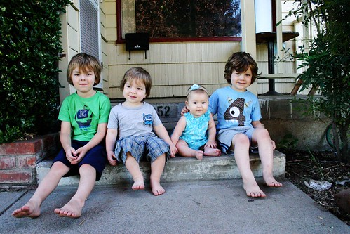 sweeties on the steps