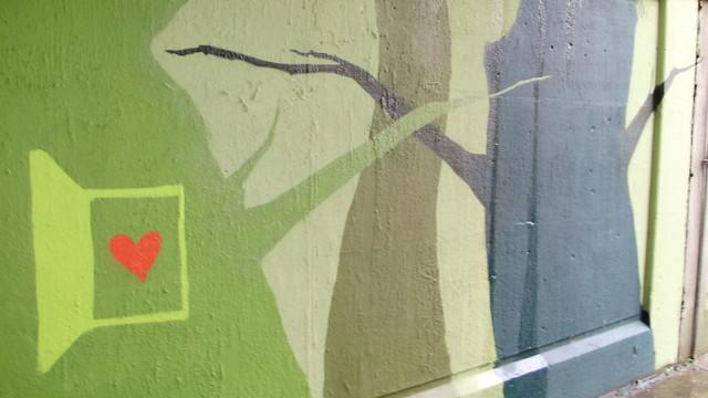pedestrian underpass mural, toronto