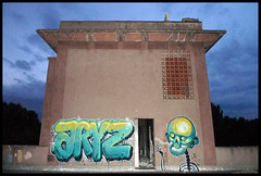 By ARYZ (Mixed Media) (Thias (-)) Tags: barcelona roof terrain streetart wall night graffiti mural mixedmedia flash urbanart espana painter graff aerosol toit espagne nuit bombing barcelone spraycanart pgc thias photograff aryz photograffcollectif