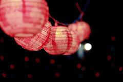15 of 365 (.Violet.) Tags: pink light black dark lights bokeh lanterns project365