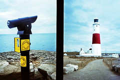 Portland Bill (slimmer_jimmer) Tags: lighthouse xpro crossprocessed telescope crossprocessing dorset halfframe agfaprecisa olympuspenee3 portlandbill portlandbilllighthouse