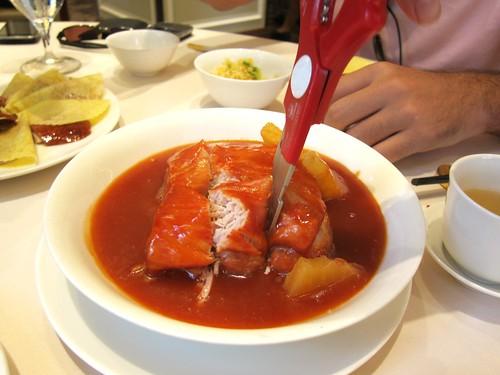 Lei Garden Pork cut with scissors