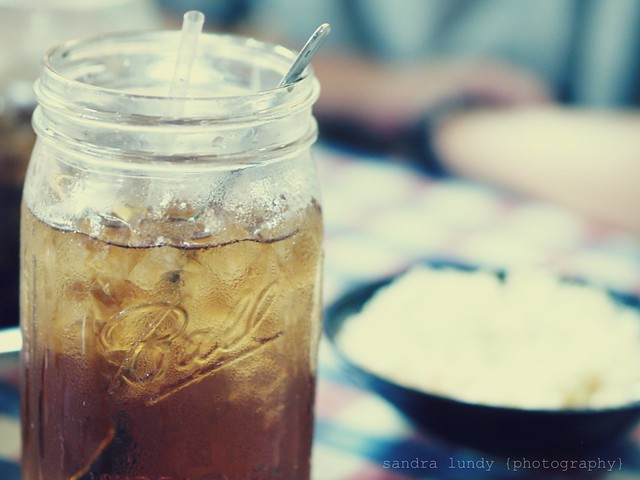 iced tea... in a mason jar.