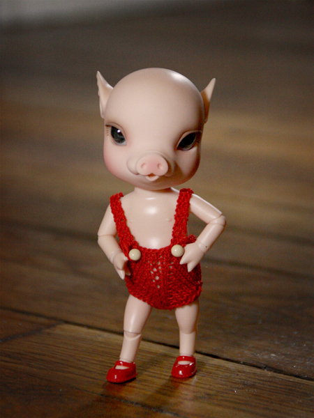 NOUVELLES PHOTOS de Sacha en bas de P1 (BJB cochon Elf Doll) 4926762133_fbc07b56ff_o