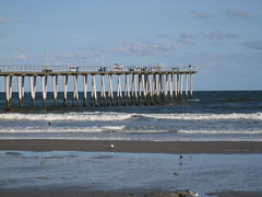 Pier at Ventnor (Hawk40) Tags: ocean vacation people seagulls beach water birds animals pier newjersey sand waves ventnor ventnornj